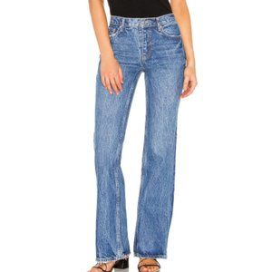 Free People Laurel Canyon Flare Denim Jeans Mid-Rise Light Fading Size 26